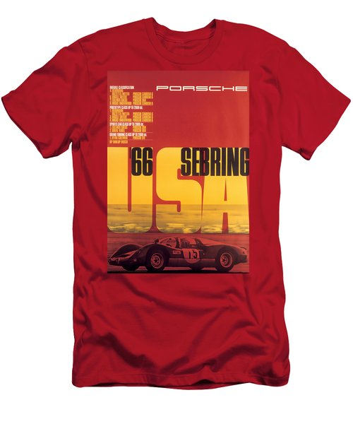 1966 Porsche 12 Hours Of Sebring Men's T-Shirt (Athletic Fit)