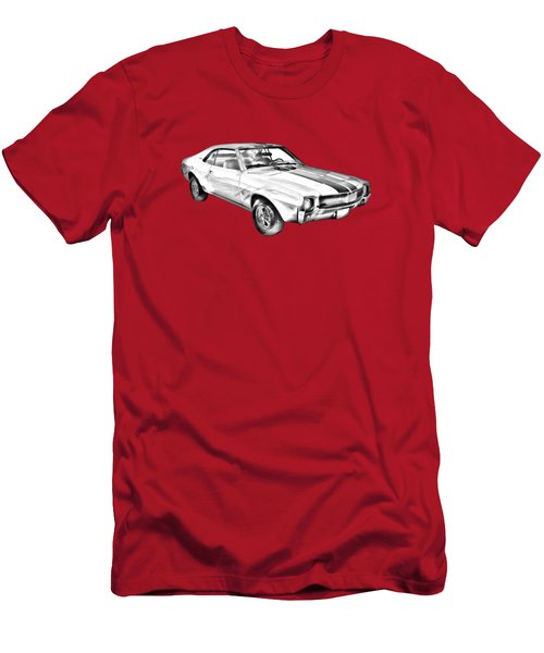 1969 Amc Javlin Car Illustration Men's T-Shirt (Athletic Fit)