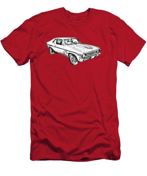 1969 Chevrolet Nova Yenko 427 Muscle Car Illustration Men's T-Shirt (Slim Fit) by Keith Webber Jr