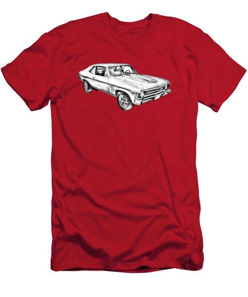 1969 Chevrolet Nova Yenko 427 Muscle Car Illustration Men's T-Shirt (Athletic Fit)