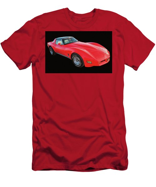 1977 Chevy Corvette T Tops Digital Oil Men's T-Shirt (Athletic Fit)