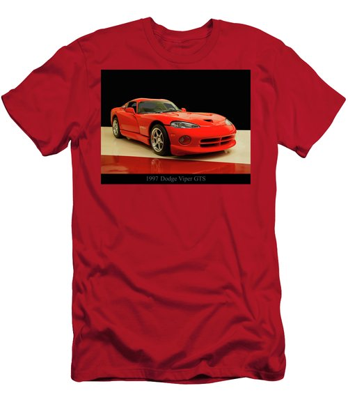 Men's T-Shirt (Slim Fit) featuring the digital art 1997 Dodge Viper Gts Red by Chris Flees