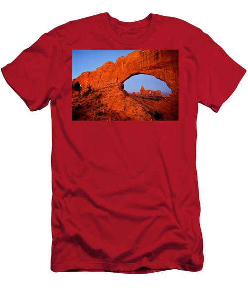 Men's T-Shirt (Slim Fit) featuring the photograph Arches by Evgeny Vasenev