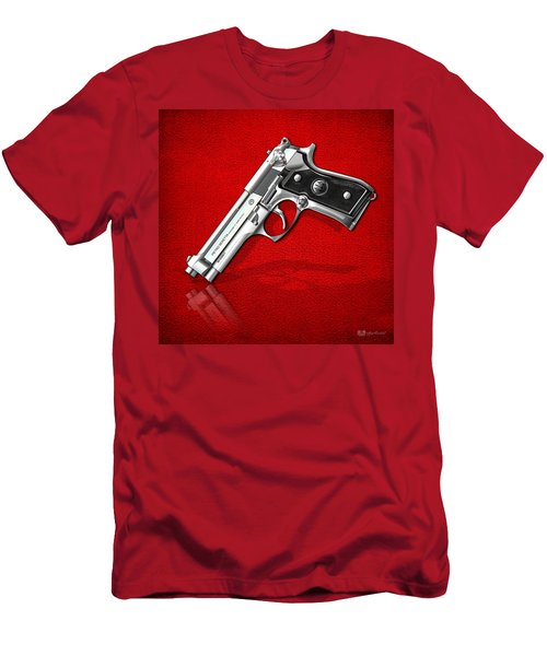 Beretta 92fs Inox Over Red Leather  Men's T-Shirt (Athletic Fit)
