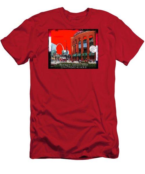 Busch Stadium - Saint Louis Missouri Men's T-Shirt (Slim Fit) by John Freidenberg