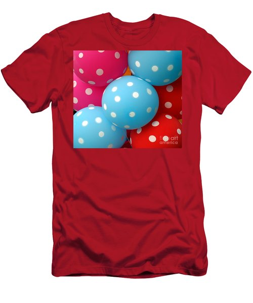 Men's T-Shirt (Athletic Fit) featuring the photograph Colorful Balloons Make A Happy Mood by Yali Shi