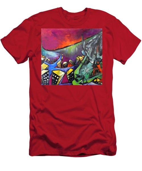 Flight Of Death Men's T-Shirt (Slim Fit) by Kenneth Agnello