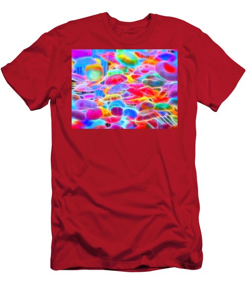 In Color Abstract 9 Men's T-Shirt (Slim Fit) by Cathy Anderson