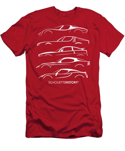 Lombard Sports Car Silhouettehistory Men's T-Shirt (Athletic Fit)