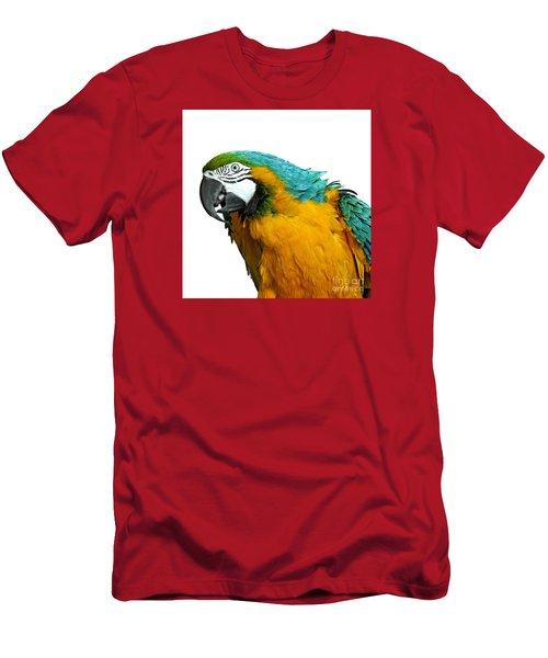 Macaw Bird Men's T-Shirt (Slim Fit) by Gunnar Orn Arnason