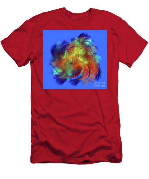 Multicolored Abstract Figures Men's T-Shirt (Athletic Fit)