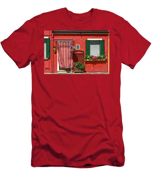 Picturesque House In Burano Men's T-Shirt (Athletic Fit)