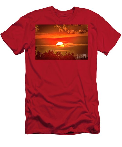 Sunset Men's T-Shirt (Slim Fit) by Pravine Chester