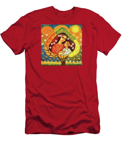 Men's T-Shirt (Slim Fit) featuring the painting Tree Of Life by Eva Campbell