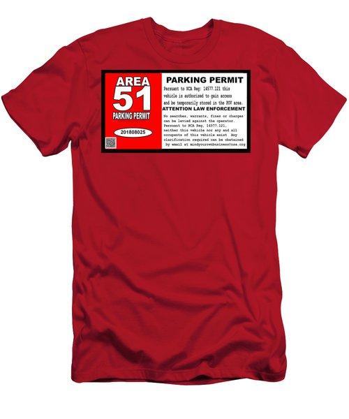 2018 Area 51 Parking Permit Men's T-Shirt (Athletic Fit)