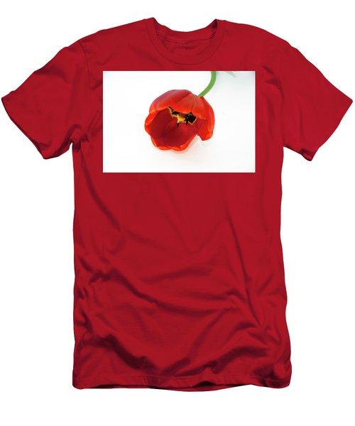 Red Tulip Men's T-Shirt (Slim Fit) by Elvira Ladocki