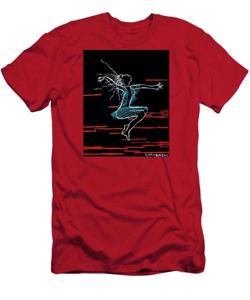 Dinka Dance - South Sudan Men's T-Shirt (Slim Fit) by Gloria Ssali