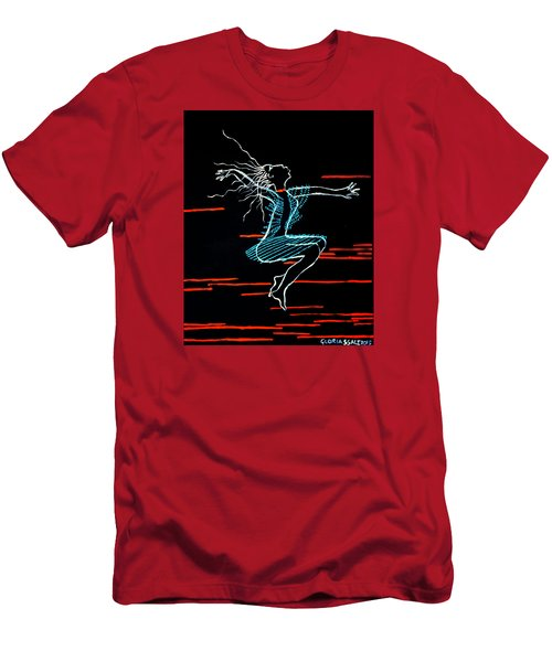 Dinka Dance - South Sudan Men's T-Shirt (Athletic Fit)