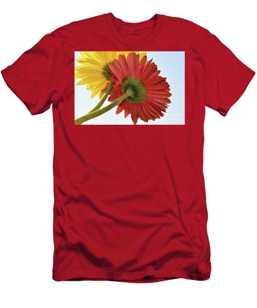 Red And Yellow Men's T-Shirt (Slim Fit) by Elvira Ladocki