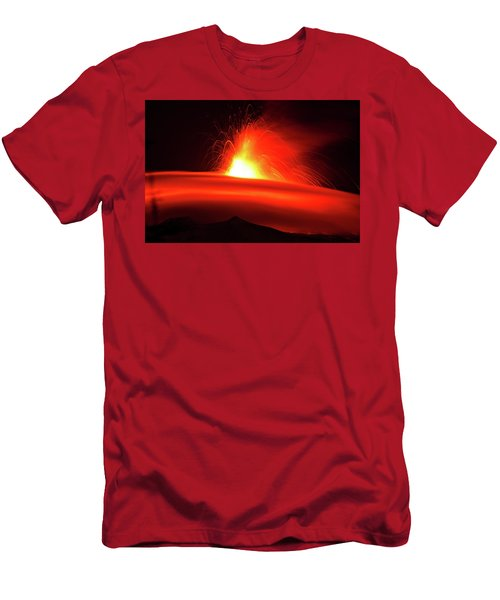 Etna, The Volcano Men's T-Shirt (Athletic Fit)