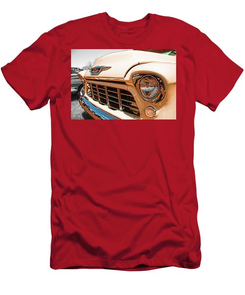 Men's T-Shirt (Athletic Fit) featuring the photograph '55 Chevy 3100 by Daniel Adams