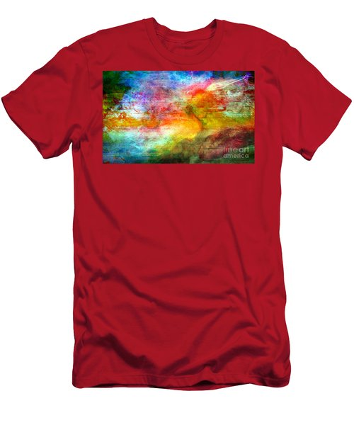 5a Abstract Expressionism Digital Painting Men's T-Shirt (Athletic Fit)
