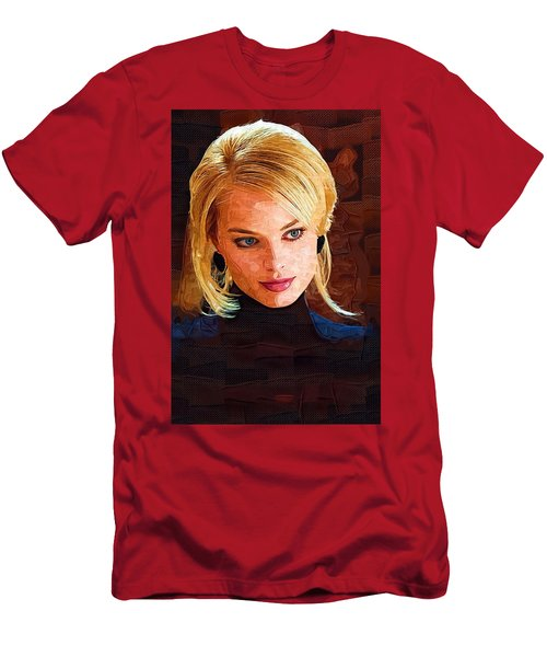 Margot Robbie Painting Men's T-Shirt (Athletic Fit)