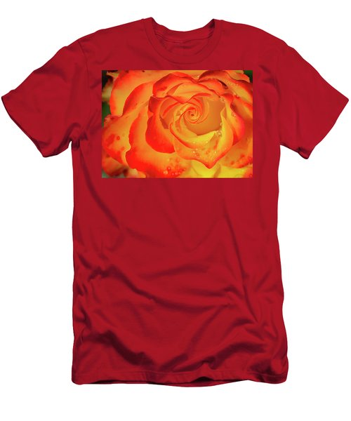 Rose Beauty Men's T-Shirt (Slim Fit) by Shirley Mitchell