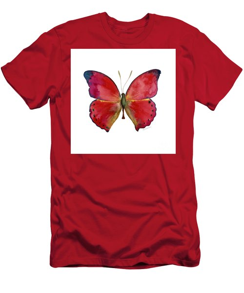 83 Red Glider Butterfly Men's T-Shirt (Athletic Fit)