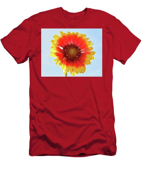 Men's T-Shirt (Slim Fit) featuring the photograph Yellow Flower by Elvira Ladocki