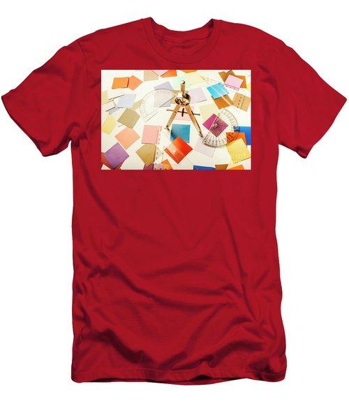A Colourful Blueprint Men's T-Shirt (Athletic Fit)