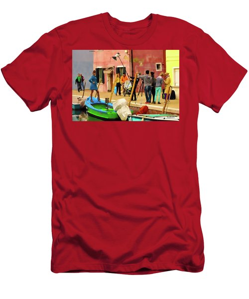 A Glamour Shoot In Burano Men's T-Shirt (Athletic Fit)