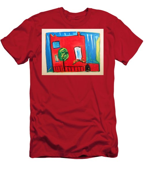 A House With A Smile To Give Men's T-Shirt (Slim Fit) by Mary Carol Williams