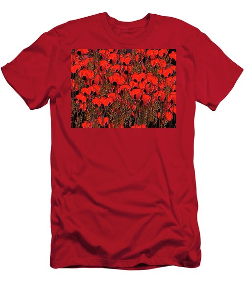 A Little Family Gathering Of Poppies Men's T-Shirt (Athletic Fit)
