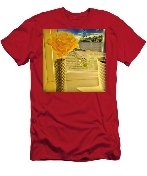 A Rose Is A Rose Electric Men's T-Shirt (Athletic Fit)