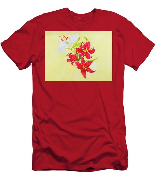 A Study Of Lilies Men's T-Shirt (Athletic Fit)