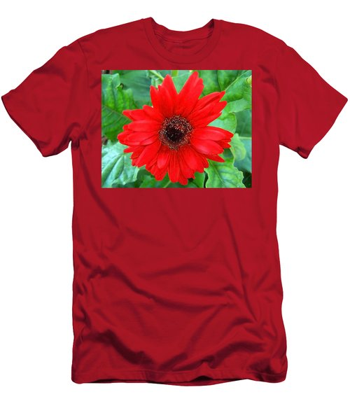 Men's T-Shirt (Slim Fit) featuring the photograph A True Red by Sandi OReilly