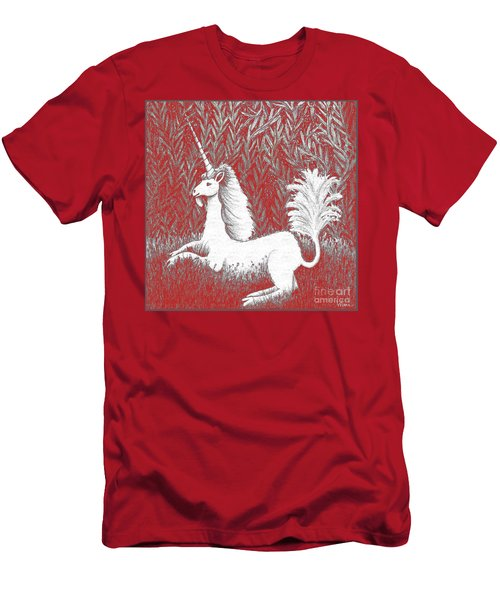 A Unicorn In Moonlight Tapestry Men's T-Shirt (Athletic Fit)