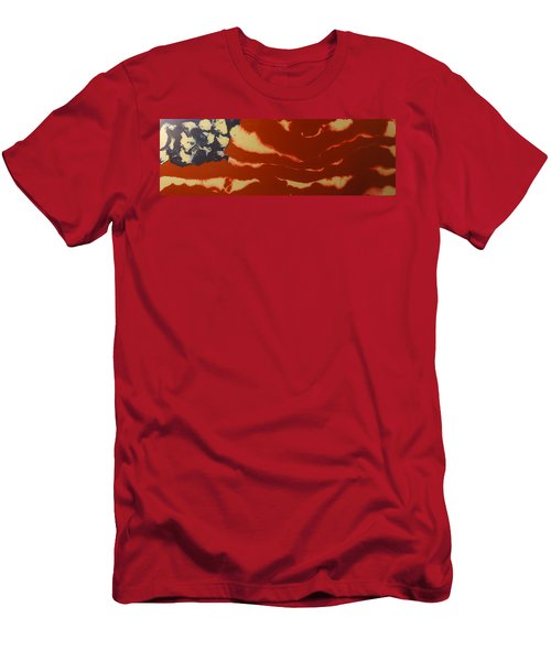 Abstract American Flag - Red, White And Blue The Star Spangled Banner Men's T-Shirt (Athletic Fit)