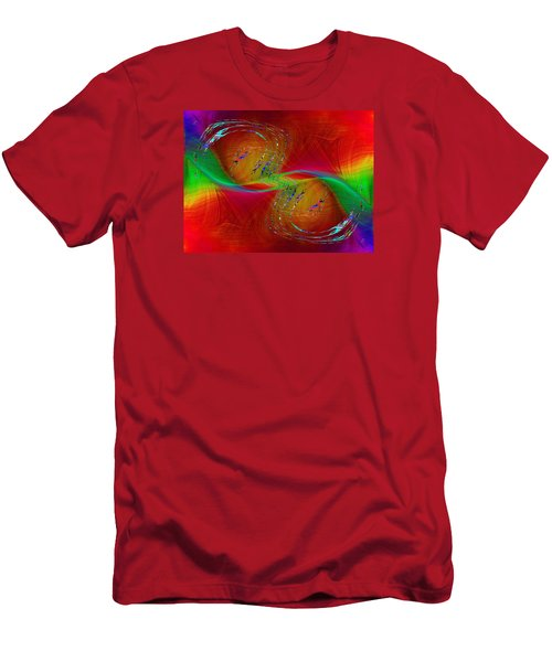 Men's T-Shirt (Slim Fit) featuring the digital art Abstract Cubed 358 by Tim Allen