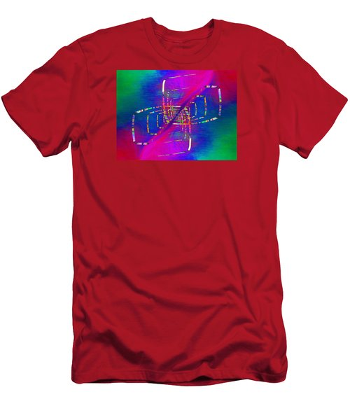 Men's T-Shirt (Slim Fit) featuring the digital art Abstract Cubed 363 by Tim Allen
