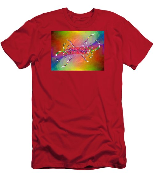 Men's T-Shirt (Slim Fit) featuring the digital art Abstract Cubed 364 by Tim Allen