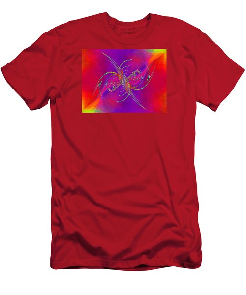 Men's T-Shirt (Slim Fit) featuring the digital art Abstract Cubed 365 by Tim Allen