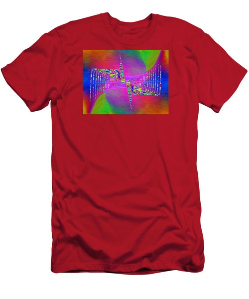 Men's T-Shirt (Slim Fit) featuring the digital art Abstract Cubed 373 by Tim Allen