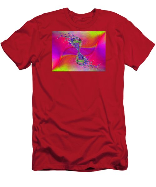 Men's T-Shirt (Slim Fit) featuring the digital art Abstract Cubed 377 by Tim Allen