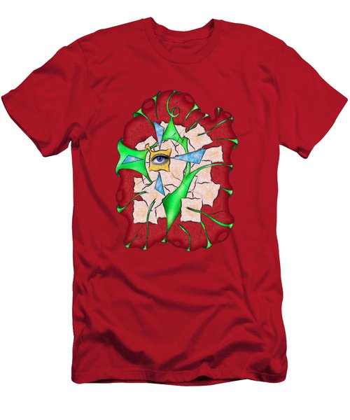 Abstract Digital Art - Deniteus V2 Men's T-Shirt (Athletic Fit)