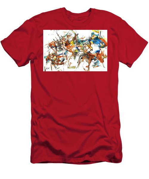 Men's T-Shirt (Athletic Fit) featuring the painting Abstract Expressionism Painting Series 1041.050812 by Kris Haas