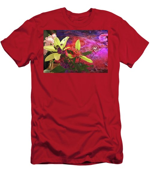 Abstract Flowers Of Light Series #16 Men's T-Shirt (Athletic Fit)