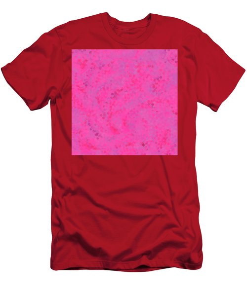 Men's T-Shirt (Athletic Fit) featuring the mixed media Abstract Hot Pink And Lilac 4 by Clare Bambers