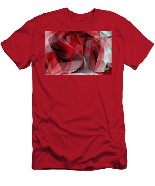 Men's T-Shirt (Athletic Fit) featuring the digital art Abstract In Red Black And White by Rafael Salazar